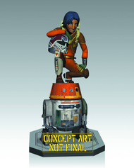 Star Wars Rebels Ezra & Chopper Maquette -- Gentle Giant -- MAY142512