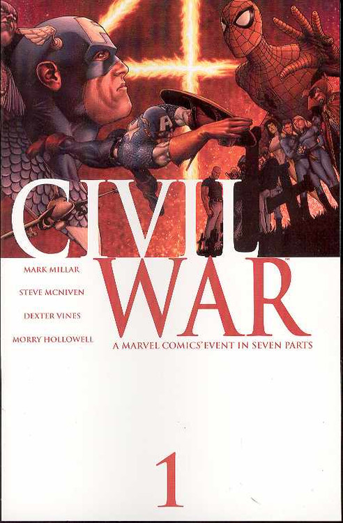 Civil War 1, 2, 3, 4, 5, 6, 7 Set 11 Extras Death Captain America -- COMIC00000001