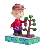 Peanuts Traditions Charlie Brown with Christmas Tree Figure -- SEP142553