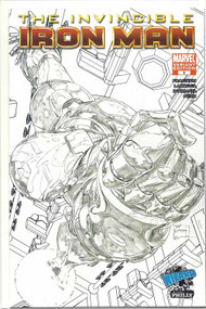 Invincible Iron Man 1 -- Quesada Sketch Wizard World Philly Variant -- COMIC00000136