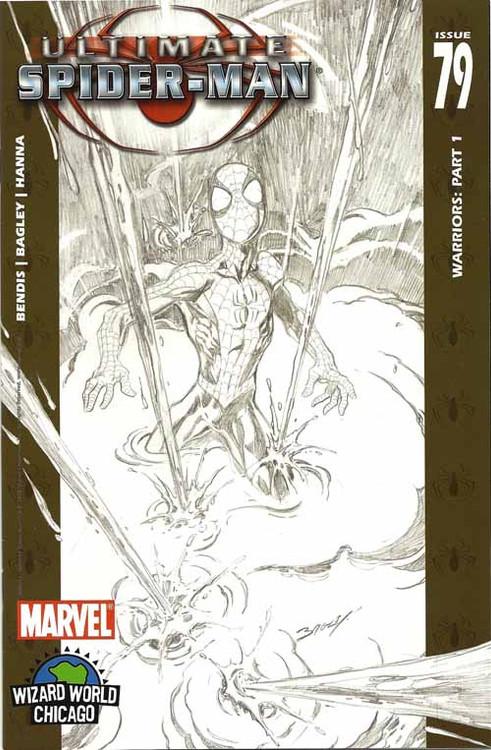 Ultimate Spider-Man 79 Bagley Wizard World Chicago Sketch Var Bendis -- COMIC00000145