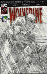 Wolverine 20 John Romita Jr Sketch Variant Wizard World Texas Millar -- COMIC00000147