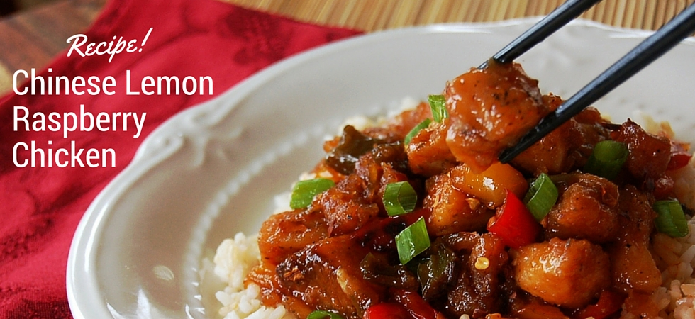 Chinese Lemon Raspberry Chicken