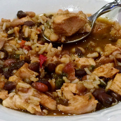 Santa Fe Chicken & Brown Rice Soup