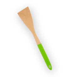 Brownlow Wood and Silicone Turner- Lime Green