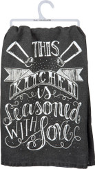 "Primitives by Kathy ""This KITCHEN is seasoned with LOVE"" Dish Towel"