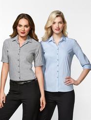 Ladies Zurich Cotton Rich Shirt S/S & 3/4 Sleeve