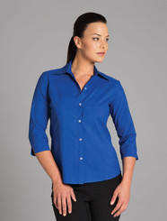 Ladies 3/4 Sleeve Polyester Shirt