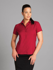 Ladies Short Sleeve Polyester Shirt