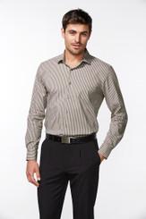 Mens Biz Collection Zurich Cotton Rich Shirt Long Sleeve