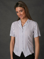 LSJ Freedom Stripe White/Navy Fitted Shirt