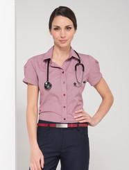 LSJ Ladies Short Sleeve Londsdale Check Shirt