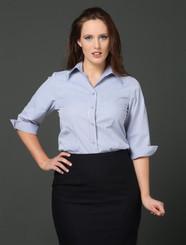 LSJ Bourke Street Stripe 3/4 Sleeve Shirt - Wisteria/Charcoal