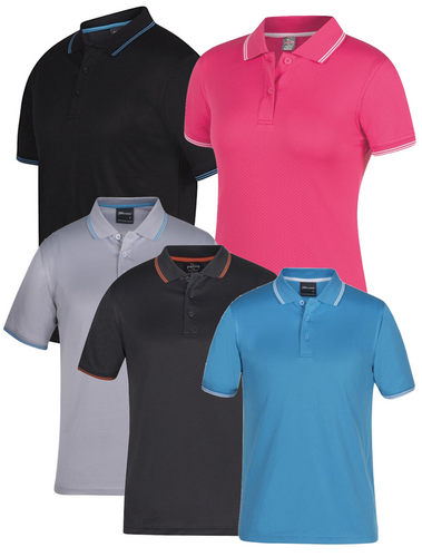 Mens & Ladies Jacquard Contrast Polo