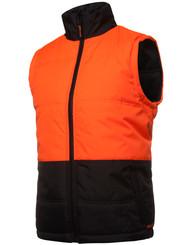 Hi Vis Orange/Black Puffer Vest