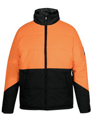 Hi Vis Orange/Black Puffer Jacket