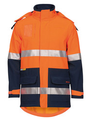 Hi Viz Soft Shell Jacket - Orange Navy