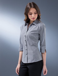 John Kevin Ladies Dobby Check Shirt