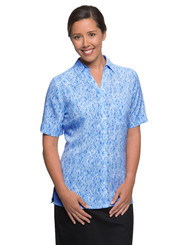 City Collection Blue Diamond Print Shirt
