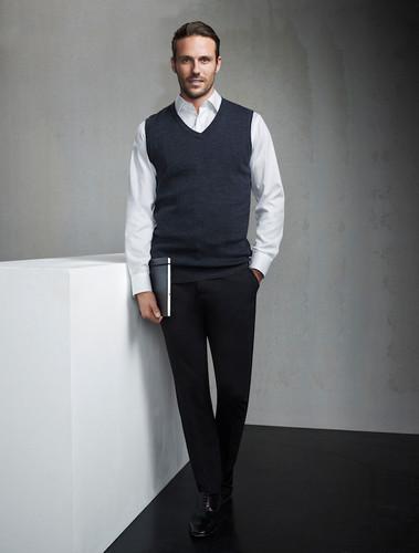 Mens Comfort Wool Slimline Trouser