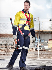 Mens Rugged Cooling Taped Coverall
