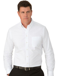 Mens White Cotton Oxford Shirt