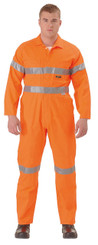Bisley Hi Vis Lightweight Coveralls 3M Reflective Tape