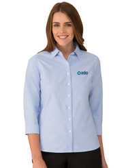 Ladies 100% Cotton Oxford Shirt