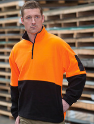 Jb's 1/2 Zip Hi Vis Polar Fleece