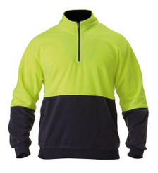 Bisley Hi Vis Polar Fleece Zip Pullover