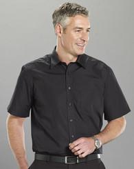 Crease Resistant Mens Black S/S Shirt