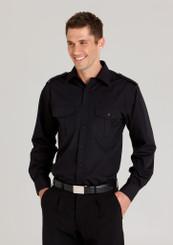 Biz Collection Epaulette Shirt - L/S Mens