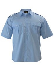 Bisley Mens Short Sleeve Epaulette Shirt