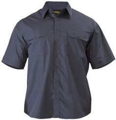Bisley Mens Permanent Press Short Sleeve Shirt