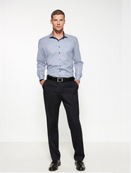 Mens One Pleat Cool Stretch Plain Trouser