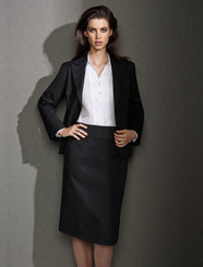 Relaxed Fit Cool Stretch Pinstripe Lined Skirt