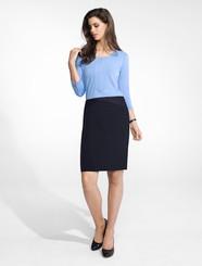 Ladies Chevron Pinstripe Skirt