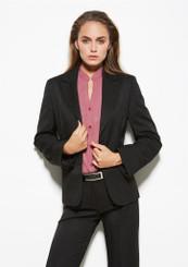 Ladies Short-Mid Length Cool Stretch Pinstripe Jacket
