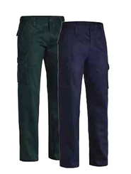 Bisley New Cotton Drill Flat Front Cargo Pant