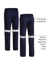 Bisley New Cotton Drill Taped Work Pant