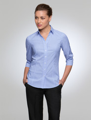 City Collection City Stretch Pinfeather 3/4 Sleeved Shirt