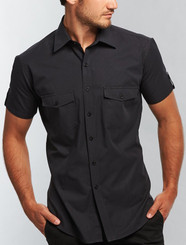 Gloweave Casual Rib Mens Short Sleeved Shirt