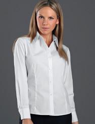 John Kevin Women's Long Sleeve Poplin Shirt
