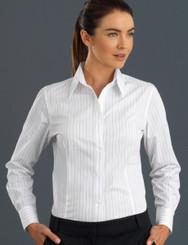 John Kevin Women's Long Sleeve Fine Stripe
