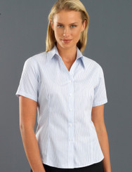 John Kevin Women's Short Sleeve Three Way Stripe