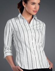 John Kevin Women's 3/4 Sleeve Euro Stripe