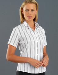 John Kevin Women's Short Sleeve Euro Stripe