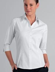 John Kevin Women's 3/4 Sleeve Self Pattern Check