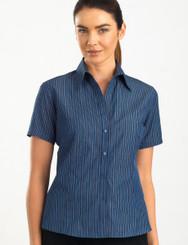 John Kevin Women's Short Sleeve Bold Stripe