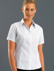 John Kevin Women's Short Sleeve Mini Check